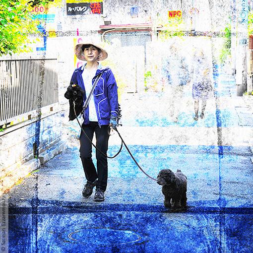 Yasoko Wandelt met Hondje