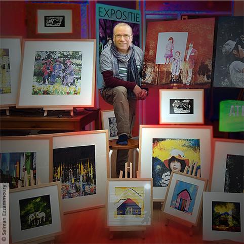 Salman Ezzammoury in zijn atelier
