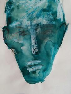 Portrait in blue/Retrato azul